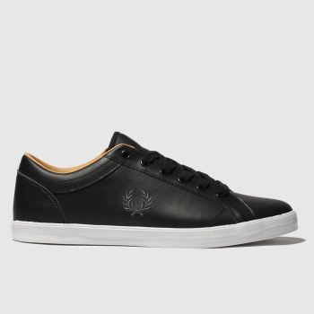 Fred Perry Black Baseline Trainers