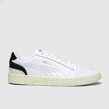 Puma White & Black Ralph Sampson Lo Perf c2namevalue::Mens Trainers
