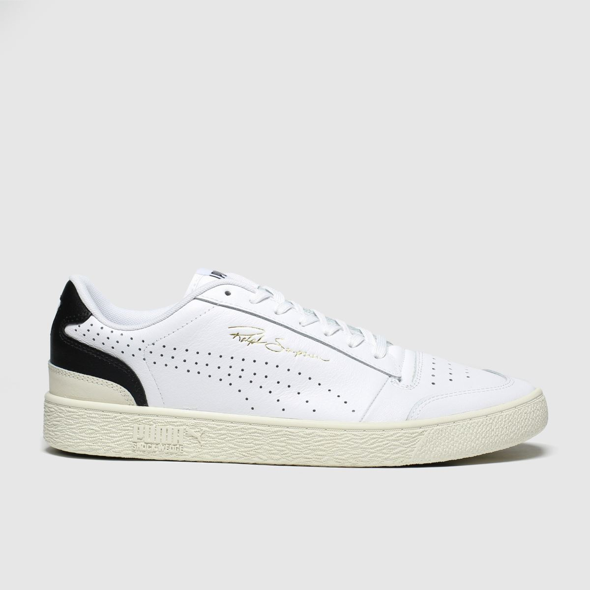 Puma White & Black Ralph Sampson Lo Perf Trainers