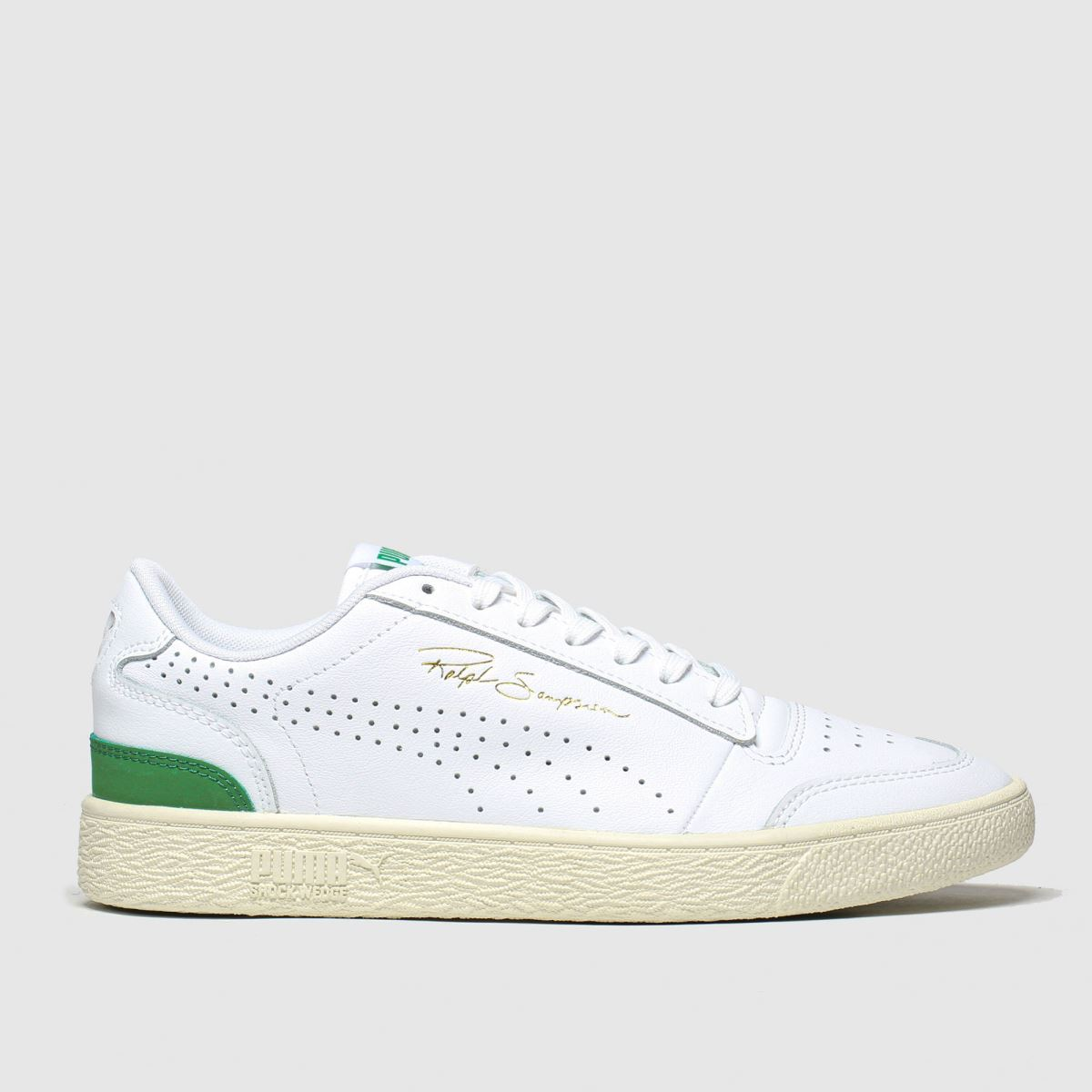 Puma White & Green Ralph Sampson Lo Perf Trainers