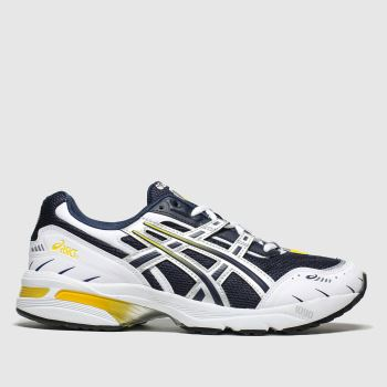 ASICS Navy & White Gel-1090 Mens Trainers