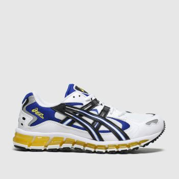 Asics White & Black Gel Kayano 5 c2namevalue::Mens Trainers