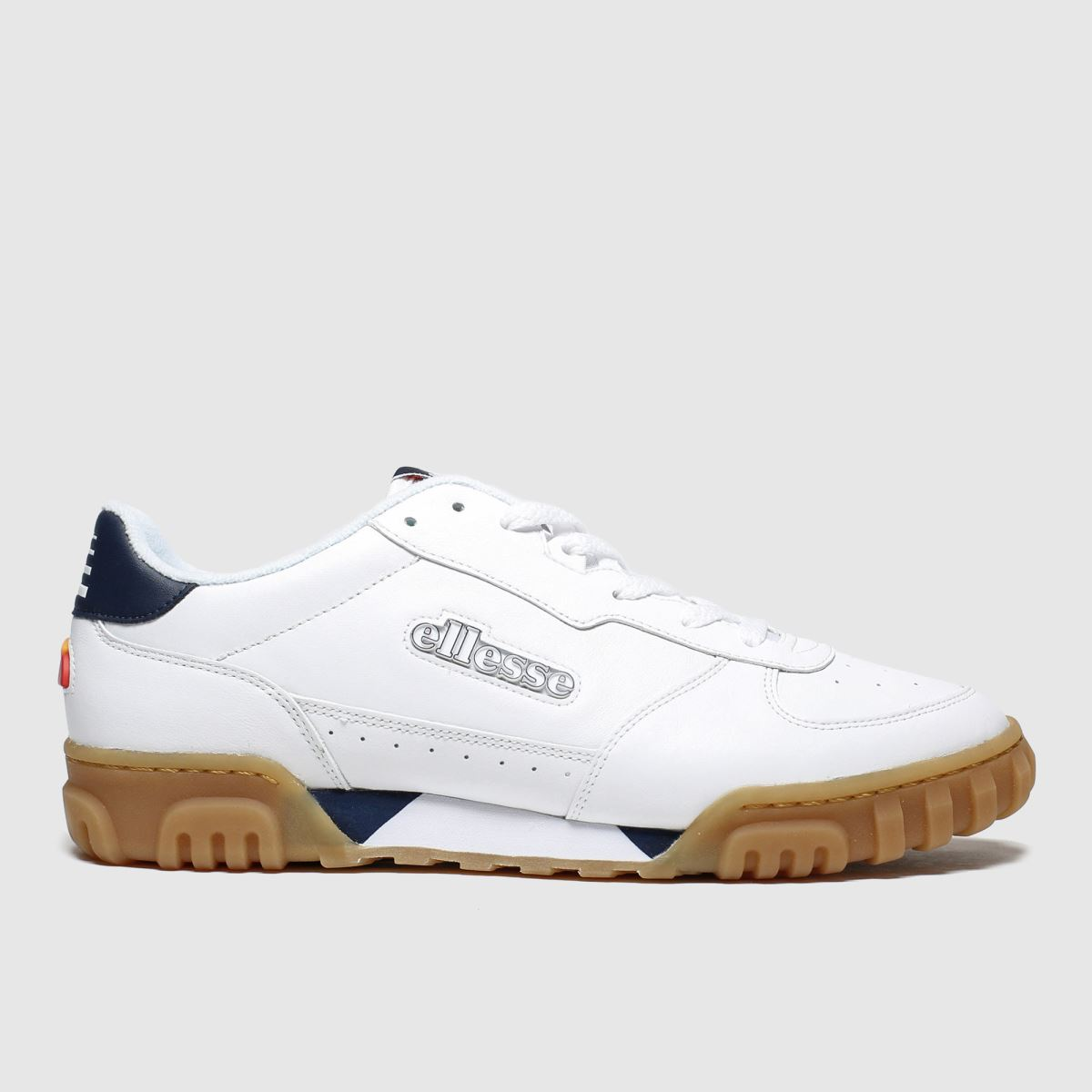 Ellesse White & Navy Tanker Lo Trainers