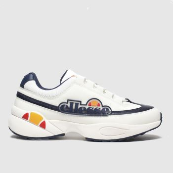 Ellesse White & Navy Sparta c2namevalue::Mens Trainers