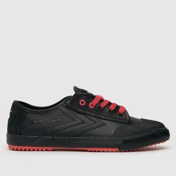 Feiyue Black & Red Staple X Fe Lo Og Pigeon Mens Trainers