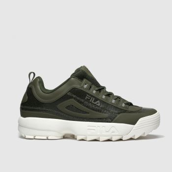 Fila Khaki Disruptor Ii No Sew c2namevalue::Mens Trainers