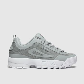 Fila Grey Disruptor Ii No Sew Mens Trainers