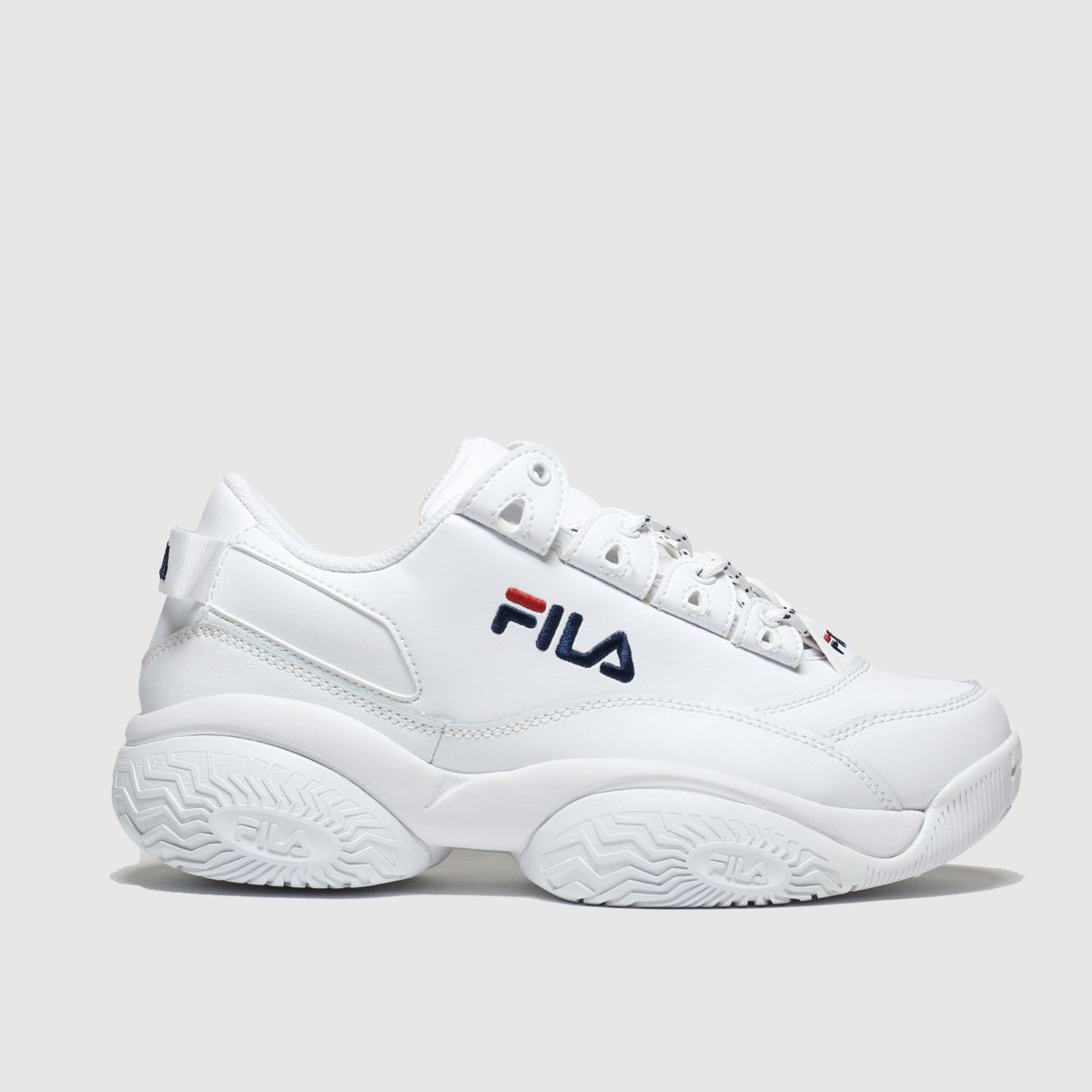Fila White & Navy Provenance Trainers