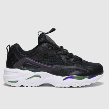Fila Black & White Ray Tracer Mens Trainers