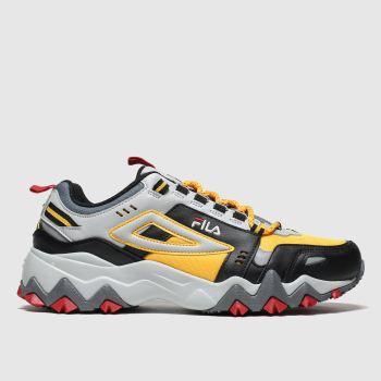 fila black & grey oakmont trail trainers