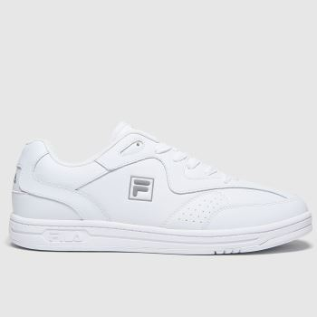 Fila White & Silver Msl Tennis Mens Trainers