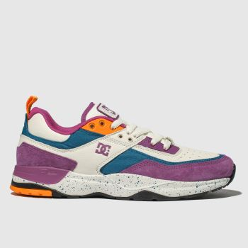 Dc Shoes White & Purple E. Tribeka Le Mens Trainers