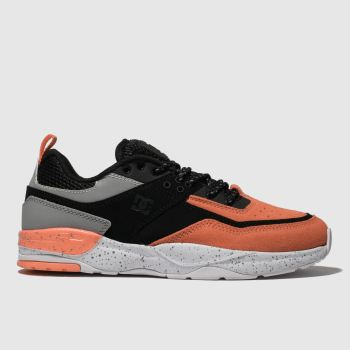 Dc Shoes Black & Orange E. Tribeka Mens Trainers