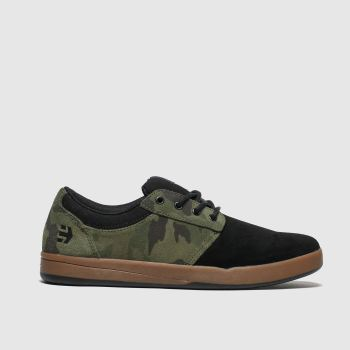Etnies Black & Green Score Mens Trainers