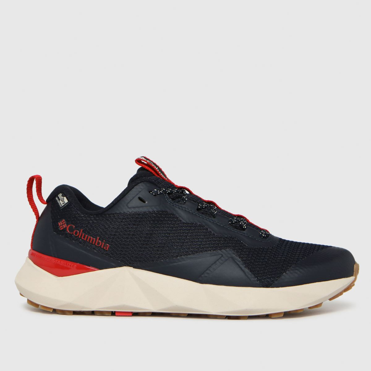 Columbia  Black & Red Facet 15 Outdry Trainers