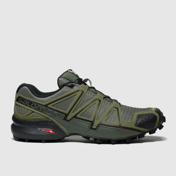 Salomon Khaki Speedcross 4 Mens Trainers