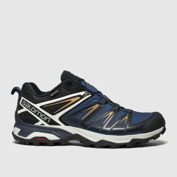 Salomon Navy X Ultra 3 Gtx Mens Trainers