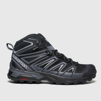 Salomon Black X Ultra 3 Mid Gtx Mens Trainers