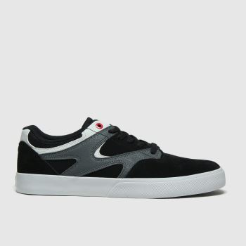DC Black & Grey Kalis Vulc Mens Trainers