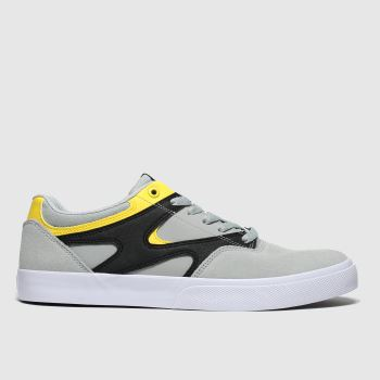 DC Light Grey Kalis Vulc Mens Trainers