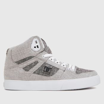 DC Light Grey Pure High Top Wc Tx Trainers