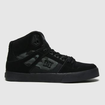 DC Black Pure High Top Wc Mens Trainers