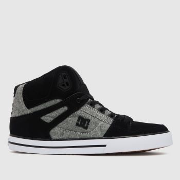 DC Black & Grey Pure High Top Wc Mens Trainers