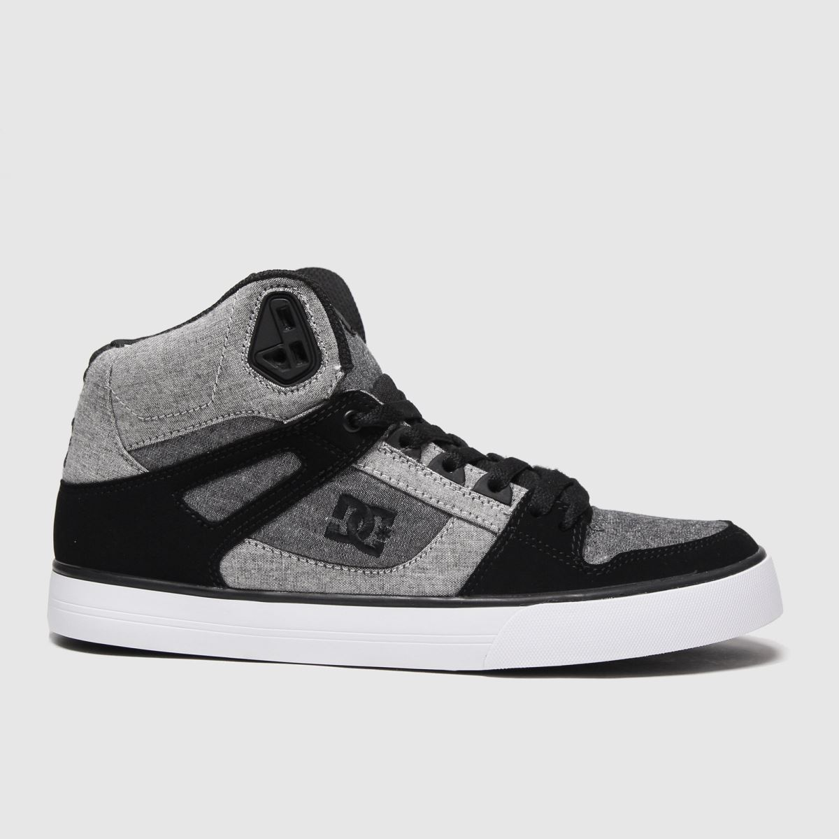 DC Black & Grey Pure High Top Wc Trainers | UK 8 | Male