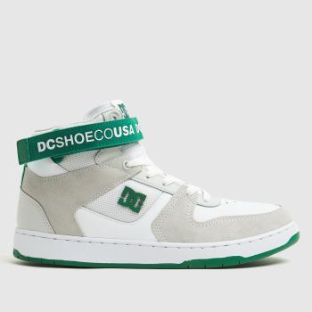 DC White & Green Pensford Mens Trainers