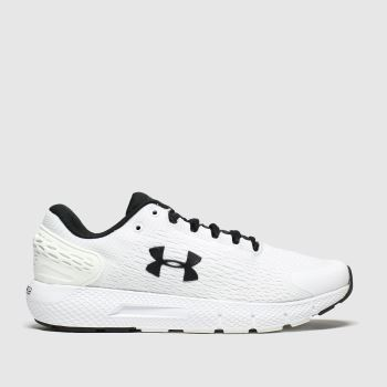 Under Armour White & Black Charged Rogue 2 Mens Trainers