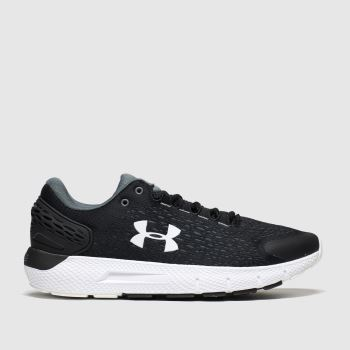 Under Armour Black & White Charged Rogue 2 Mens Trainers