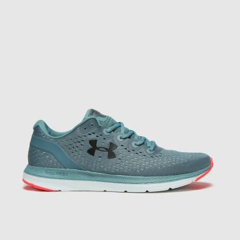 Under Armour Pale Blue Charged Impulse Mens Trainers