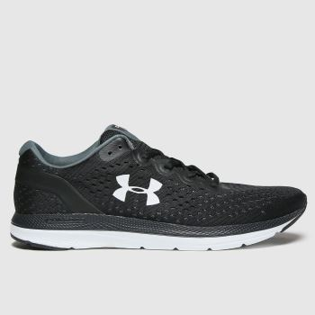 Under Armour Black & White Charged Impulse Mens Trainers