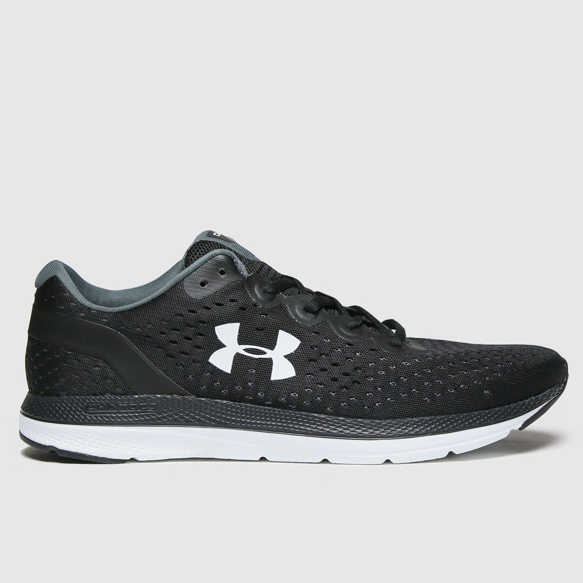 Under Armour Black & White Charged Impulse Trainers