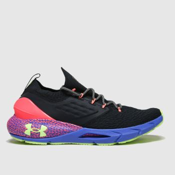 Under Armour Black and blue Hovr Phantom 2 Glow Running Mens Trainers