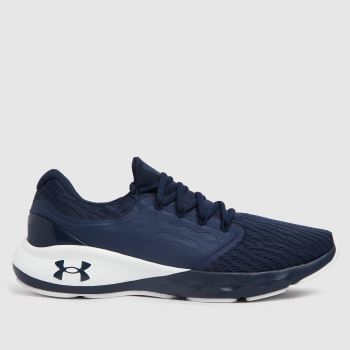 Under Armour Navy & White Charged Vantage Mens Trainers