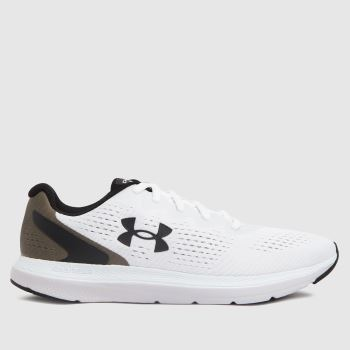 Under Armour White & Black Charged Impulse 2 Mens Trainers