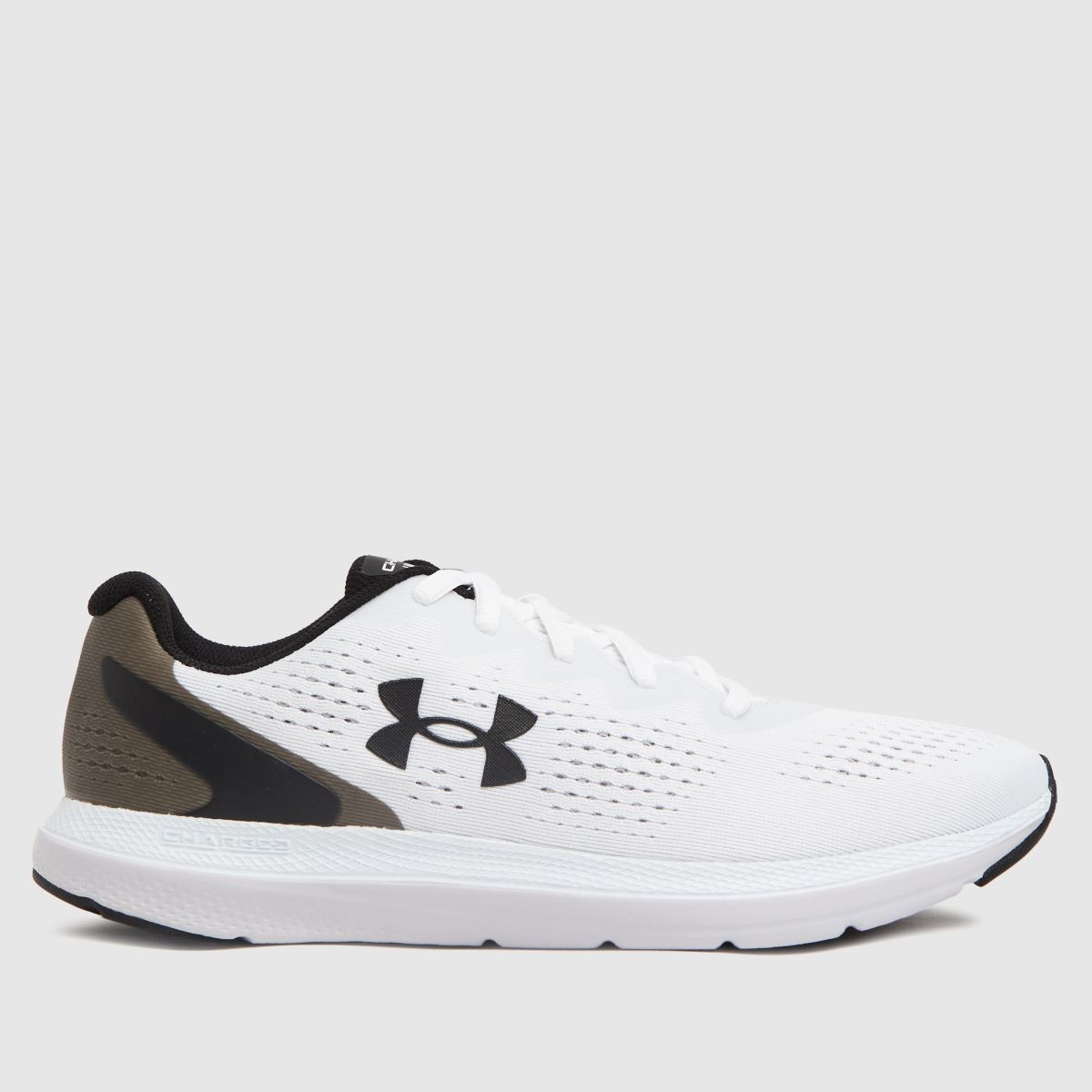 Under Armour White & Black Ua Charged Impulse 2 Trainers