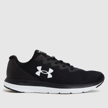 Under Armour Black & White Charged Impulse 2 Mens Trainers