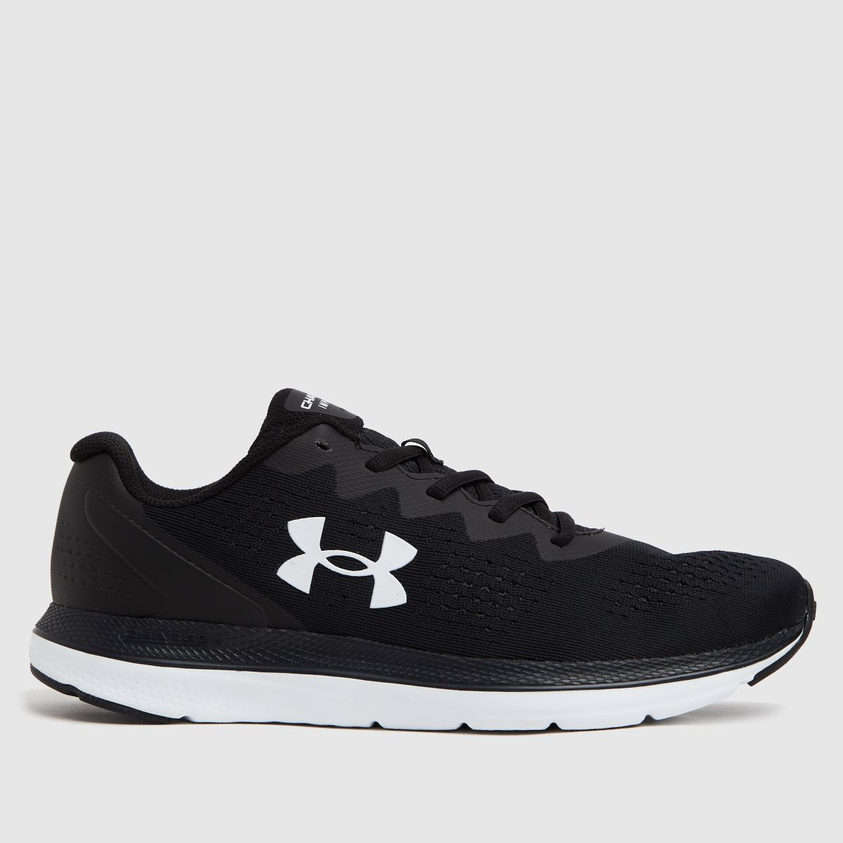 Under Armour Black & White Charged Impulse 2 Trainers