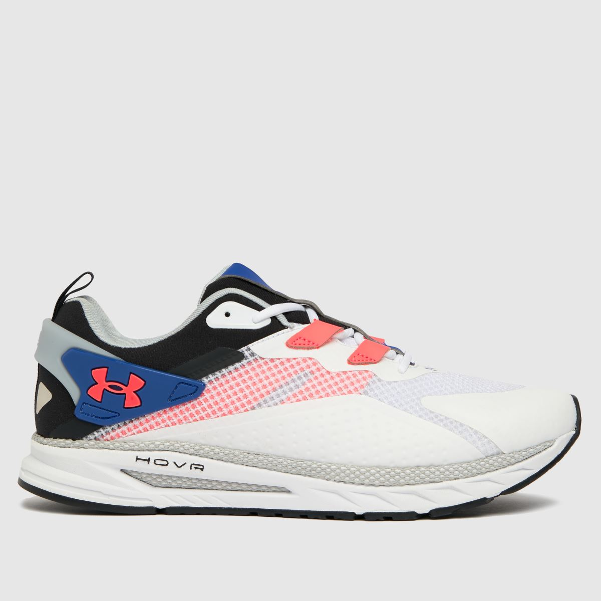Under Armour White & Pl Blue Hovr Flux Mvmnt Trainers