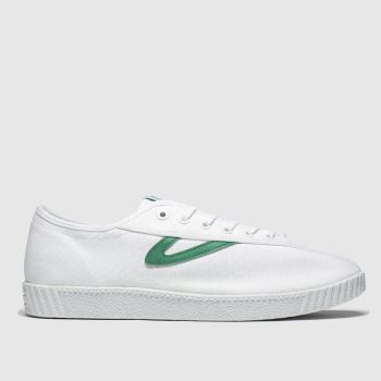 Tretorn White & Green Nylite Canvas Mens Trainers