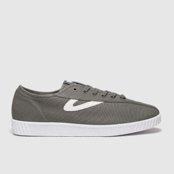 Tretorn Grey Nylite Canvas Trainers