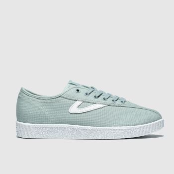 Tretorn Light Green Nylite Canvas Mens Trainers
