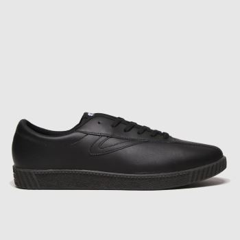Tretorn Black Nylite Leather Mens Trainers
