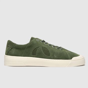 Roscomar Dark Green Blvd Suede Mens Trainers#