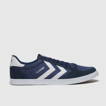hummel Navy & White Stadil Slim Mens Trainers