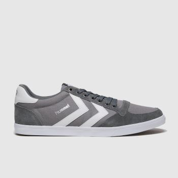 hummel Grey Stadil Slim Mens Trainers