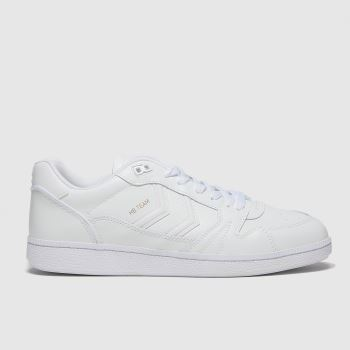Hummel White Handball Mens Trainers#