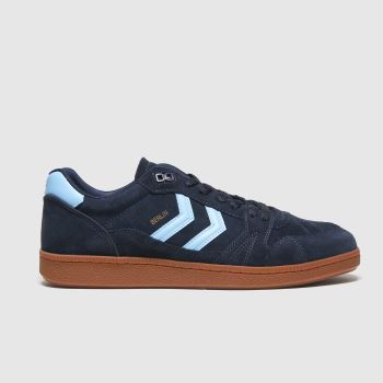 hummel Navy & Pl Blue Handball Berlin Mens Trainers